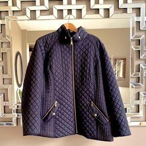 Plus Size 2X Ellen Tracy Black Quilted Jacket!